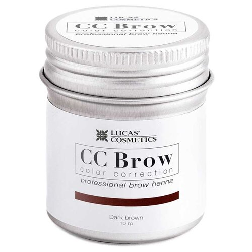 CC Brow Хна для бровей в баночке 10 г dark brown хна для бровей cc brow cc brow cc003lwxzk23