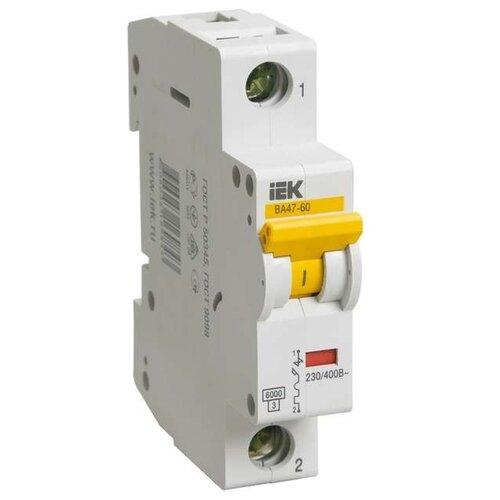 Автоматический выключатель IEK ВА 47-60 1P (C) 6kA 16 ААвтоматические выключатели<br>
