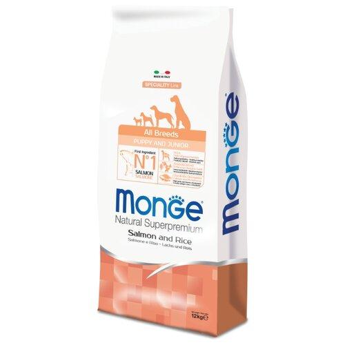Корм для собак Monge (12 кг) Speciality Puppy&Junior Лосось с РисомКорма для собак<br>
