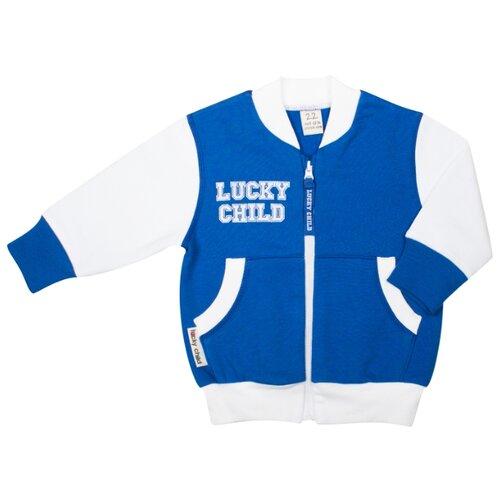 Олимпийка lucky child размер 24, синийДжемперы и толстовки<br>
