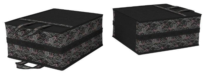 Cofret Чемоданчик для обуви на 6 пар черный/мультиколор