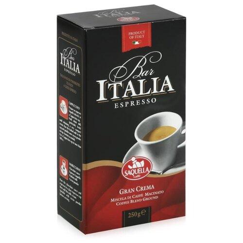 Фото - Кофе молотый Saquella Bar Italia Gran Crema вакуумная упаковка, 250 г кофе saquella кофе в зернах espresso gran arabica 250 г