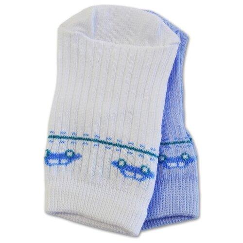 Носки Носик размер 9-10, белый/голубойНоски<br>