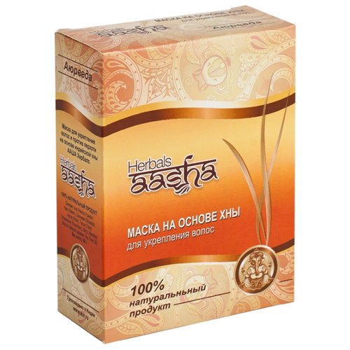 Aasha Herbals Маска на основе хны для укрепления волос, 80 г цянь herborist тыс herbals коллагеновые компактный кассетные снаряды работать шелк маска 1 5