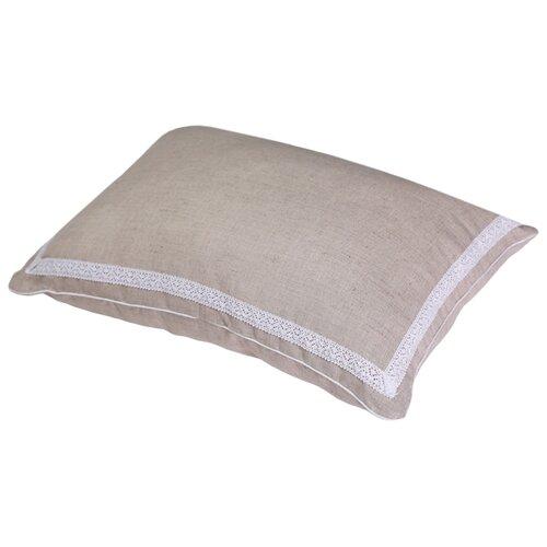 Подушка BIO-TEXTILES Кедровое очарование Naturel (KON158) 40 х 60 см бежевый подушка валик bio textiles со съемной наволочкой холлофайбер f597 голубой 40 х 10 х 10 см
