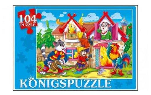 Пазл Рыжий кот Konigspuzzle Кошкин дом (ПК104-7897), 104 дет.