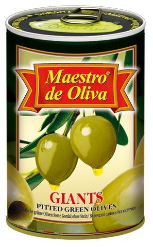 Maestro De Oliva Оливки гигантские в рассоле без косточки, жестяная банка 420 г