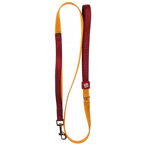 Поводок для собак GiGwi Classic Line M желтый/красный 1.2 м 15 мм поводок для собак gigwi classic line s фиолетовый 1 2 м 10 мм