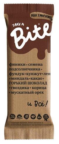 Фруктовый батончик Bite Настроение без сахара Горький шоколад, 45 г