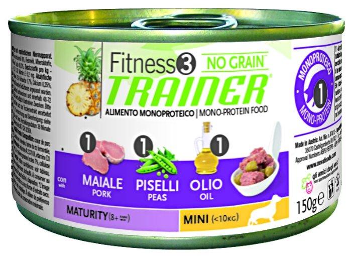 Корм для собак TRAINER Fitness3 No Grain Mini Maturity Pork and peas canned