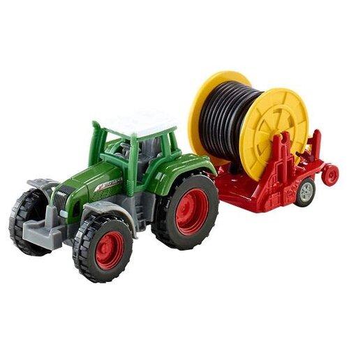 Купить Трактор Siku с поливочной бобиной (1677) зеленый/красный/желтый, Машинки и техника