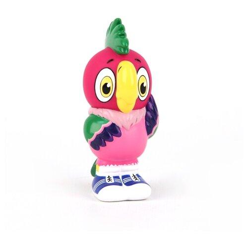 Купить Игрушка для ванной Затейники Попугай Кеша (GT5851) розовый, Игрушки для ванной
