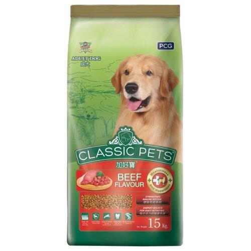 Корм для собак Classic Pets (15 кг) Сухой корм для взрослых собак всех пород с говядиной