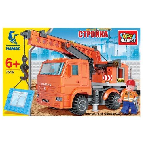 Купить Конструктор ГОРОД МАСТЕРОВ Стройка 7516 Камаз: Кран, Конструкторы