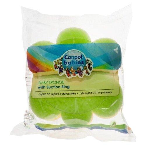 Купить Губка Canpol Babies Цветок (43/106) зеленый, Мочалки, губки