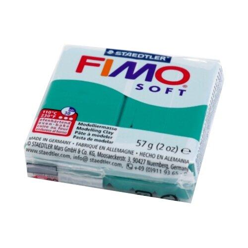 Купить Полимерная глина FIMO Soft запекаемая изумруд (8020-56), 57 г, Глина