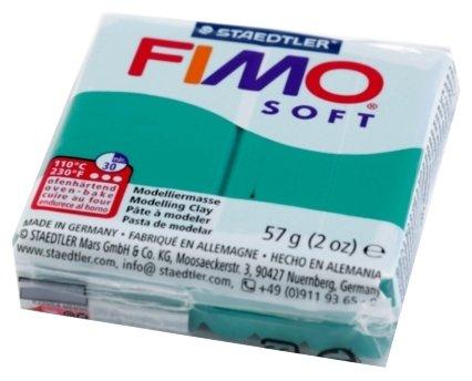 Полимерная глина FIMO Soft запекаемая изумруд (8020-56), 57 г