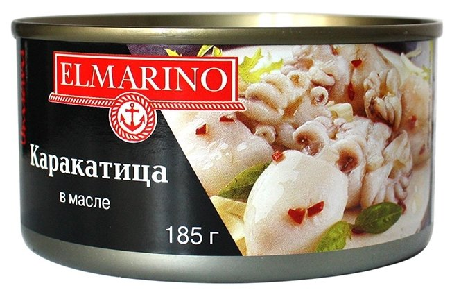 ELMARINO Мясо каракатицы в масле, 185 г