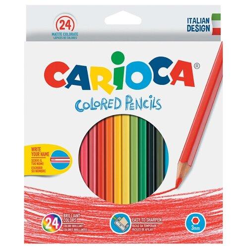 Купить Carioca набор цветных карандашей 24 цвета (40381), Цветные карандаши