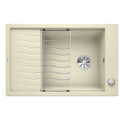 Врезная кухонная мойка 78 см Blanco Elon XL 6S с клапаном-автоматом 524839 жасмин кухонная мойка blanco elon xl 6s silgranit жасмин с клапаном автоматом