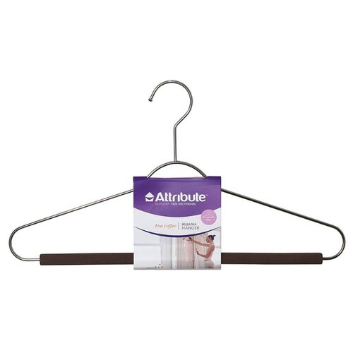вешалка для рубашек attribute hanger eva цвет черный длина 41 см Вешалка Attribute Универсальная Eva coffee