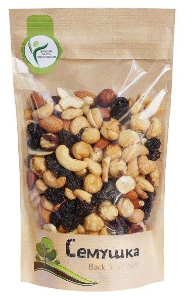 Смесь орехов и сухофруктов Семушка орехи и изюм 150 г