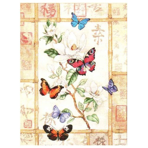Dimensions Набор для вышивания крестиком Сверкающая бабочка 20 х 46 см (35063) dimensions набор для вышивания морские сокровища 20 х 10 см 65035