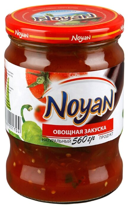 Закуска овощная NOYAN стеклянная банка 560 г
