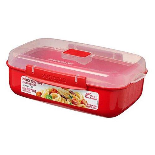 контейнер пищевой violet прямоугольный 811407 красный Sistema Контейнер прямоугольный Microwave 1114 красный