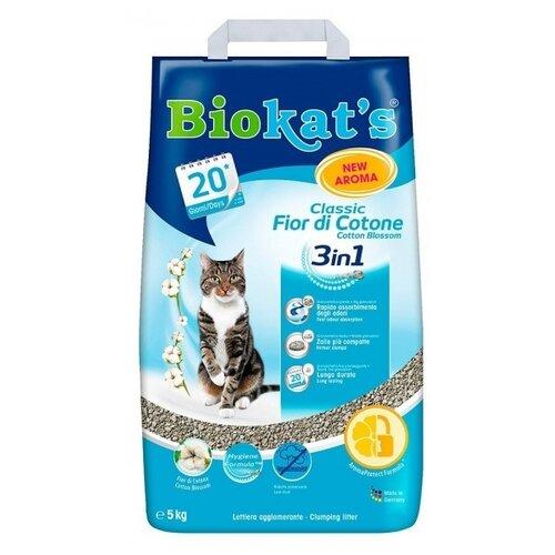 Комкующийся наполнитель Biokat's Classic 3in1 Cotton Blossom 5 кг