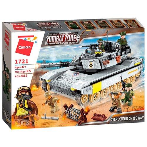 Конструктор Qman CombatZones 1721 Боевой танк конструктор qman combatzones 1712 военная база