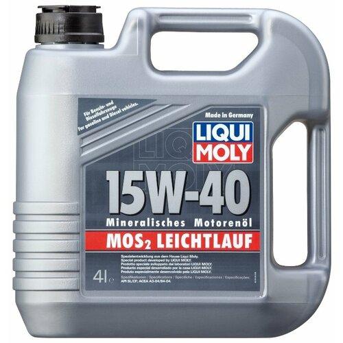 Минеральное моторное масло LIQUI MOLY MoS2 Leichtlauf 15W-40, 4 л по цене 2 229