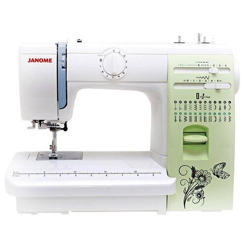Швейная машина Janome Q-23G, бело-зеленый