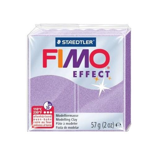 Купить Полимерная глина FIMO Effect запекаемая перламутровый лиловый (8020-607), 57 г, Глина