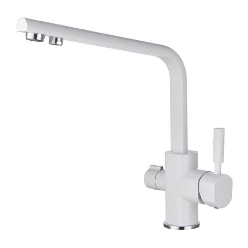 Смеситель для кухни (мойки) KAISER Decor 40144 granit однорычажный white смеситель для кухни с подключением к фильтру kaiser decor 40144 5