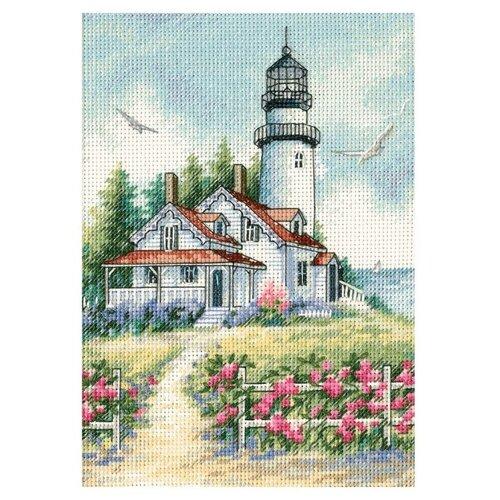 Купить Dimensions Набор для вышивания крестиком Живописный маяк 13 х 18 см (65057), Наборы для вышивания