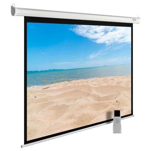 Рулонный матовый белый экран cactus MotoExpert CS-PSME-240x180-WT