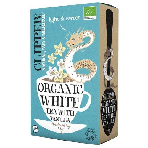 Чай белый Clipper Organic white tea with vanilla в пакетиках, 26 шт.
