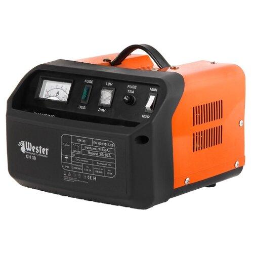 Зарядное устройство Wester CH30 черный/оранжевый зарядное