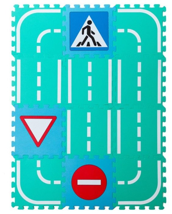 Коврик-пазл MD Автодорога со знаками (MDP-30212S)