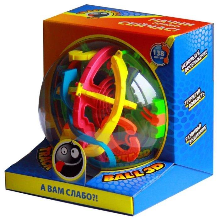 Головоломка Волшебный мир Лабиринт Track Ball 3D 138 ходов (HB047838) красный/желтый/зеленый