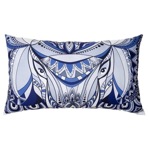 Подушка декоративная Этель Слон (3365357), 70 x 40 см синий