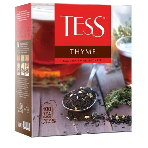 Чай черный Tess Thyme в пакетиках , 100 шт. чай черный tess blueberry tart