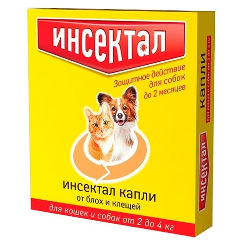Инсектал капли от блох и клещей инсектоакарицидные для собак и кошек от 2 до 4 кг от 12 нед. капли для кошек inspector тотал к от 8 до 15 килограмм от внеш и внутр паразитов