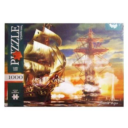 Купить Пазл Danko Toys Морской бой (C1000-09-09), 1000 дет., Пазлы