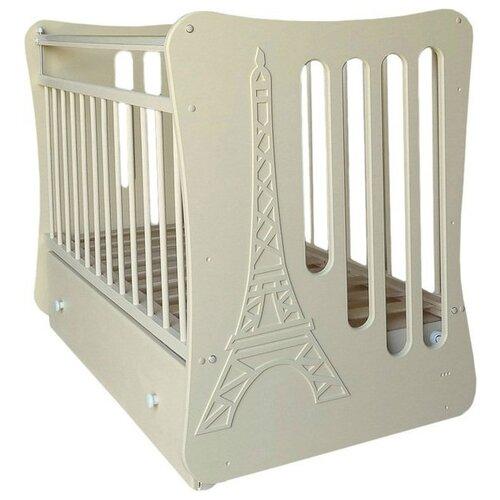 Купить Кроватка Островок уюта Вояж (классическая), поперечный маятник слоновая кость, Кроватки