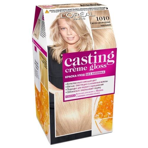 LOreal Paris Casting Creme Gloss стойкая краска-уход для волос, 1010, Светло-светло-русыйКраска<br>