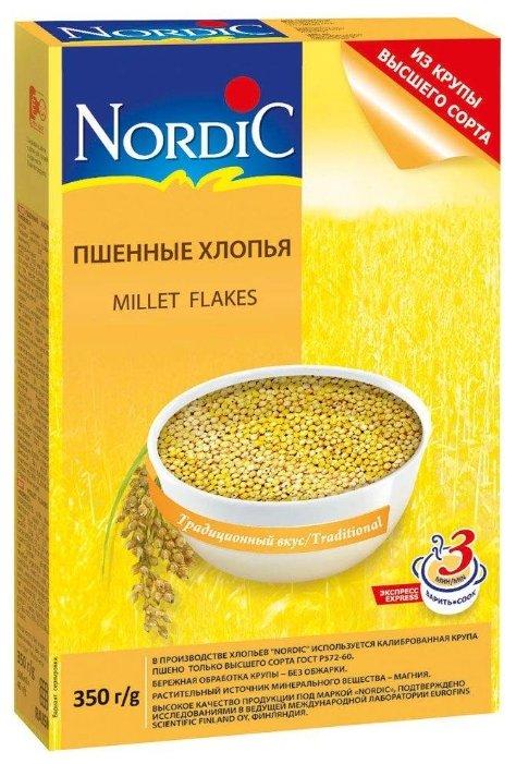 Хлопья NORDIC (Нордик) пшённые, 350 гр