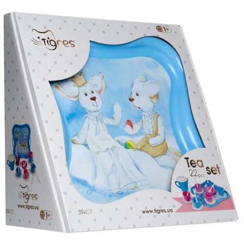 цена на Набор посуды Тигрес Эльфы на облачке 39407 голубой / розовый / белый
