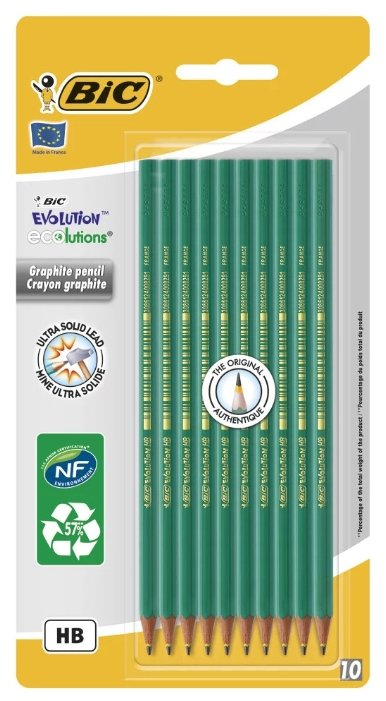 BIC Набор чернографитных карандашей Evolution 650 10 шт (926411)